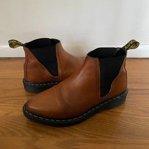 Dr Martens Bianca Chelsea Boots Tan Cognac Sz 9